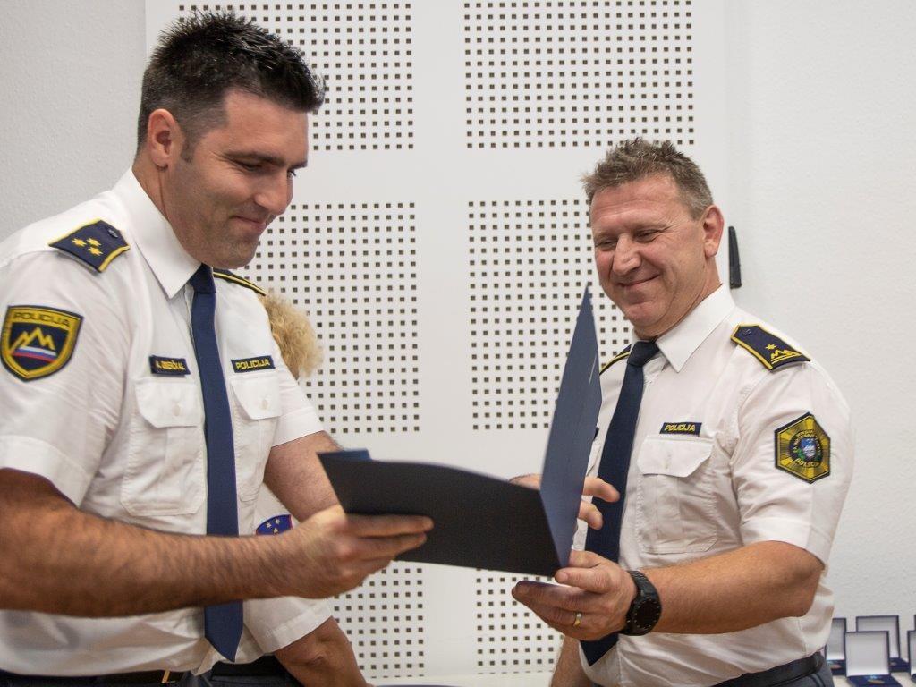 Podelitev priznanj Policije na slovesnosti ob Dnevu policije 14.6.2019 v Hrastniku