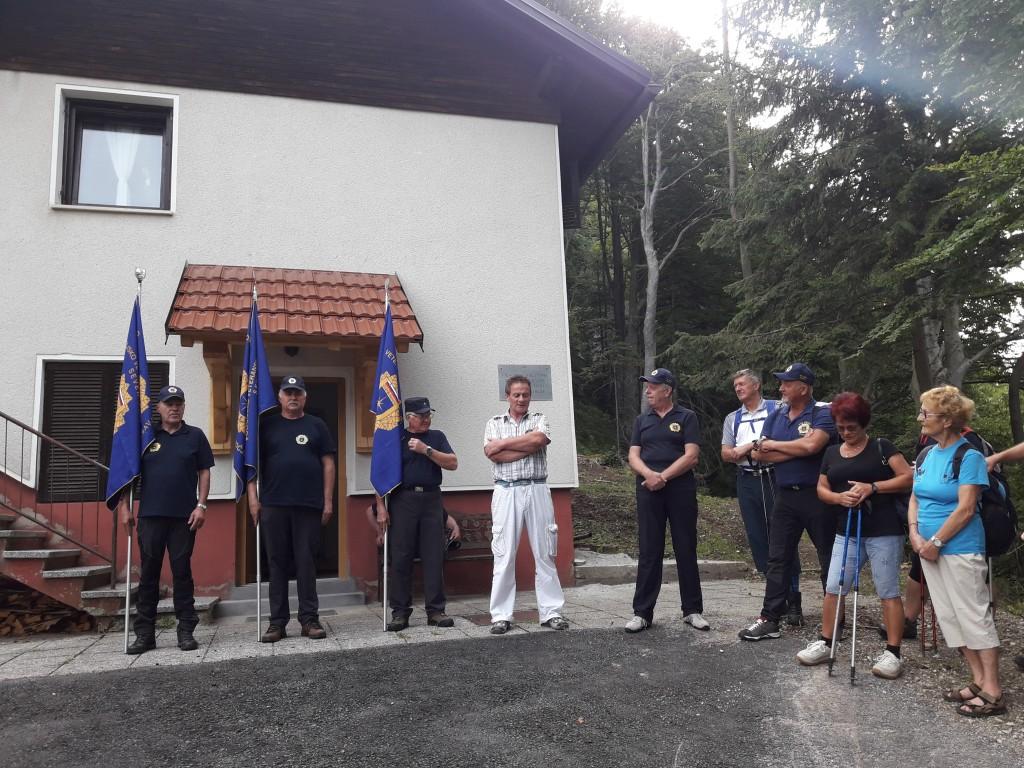 Slovesnost pri spominskem obeležju na Prvinah 29.7.2018
