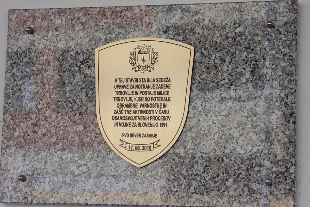 Odkritje spominske plošče na PP Trbovlje - bivša UNZ Trbovlje (2016)