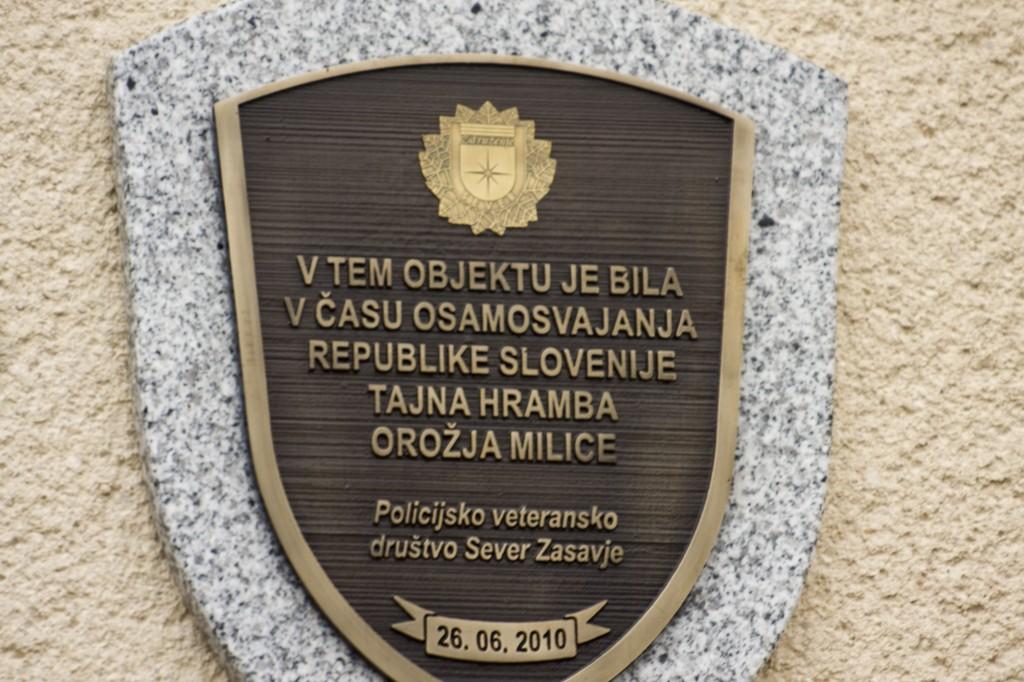 Odkritje spominske plošče pri Polc, Zagorje (2010)